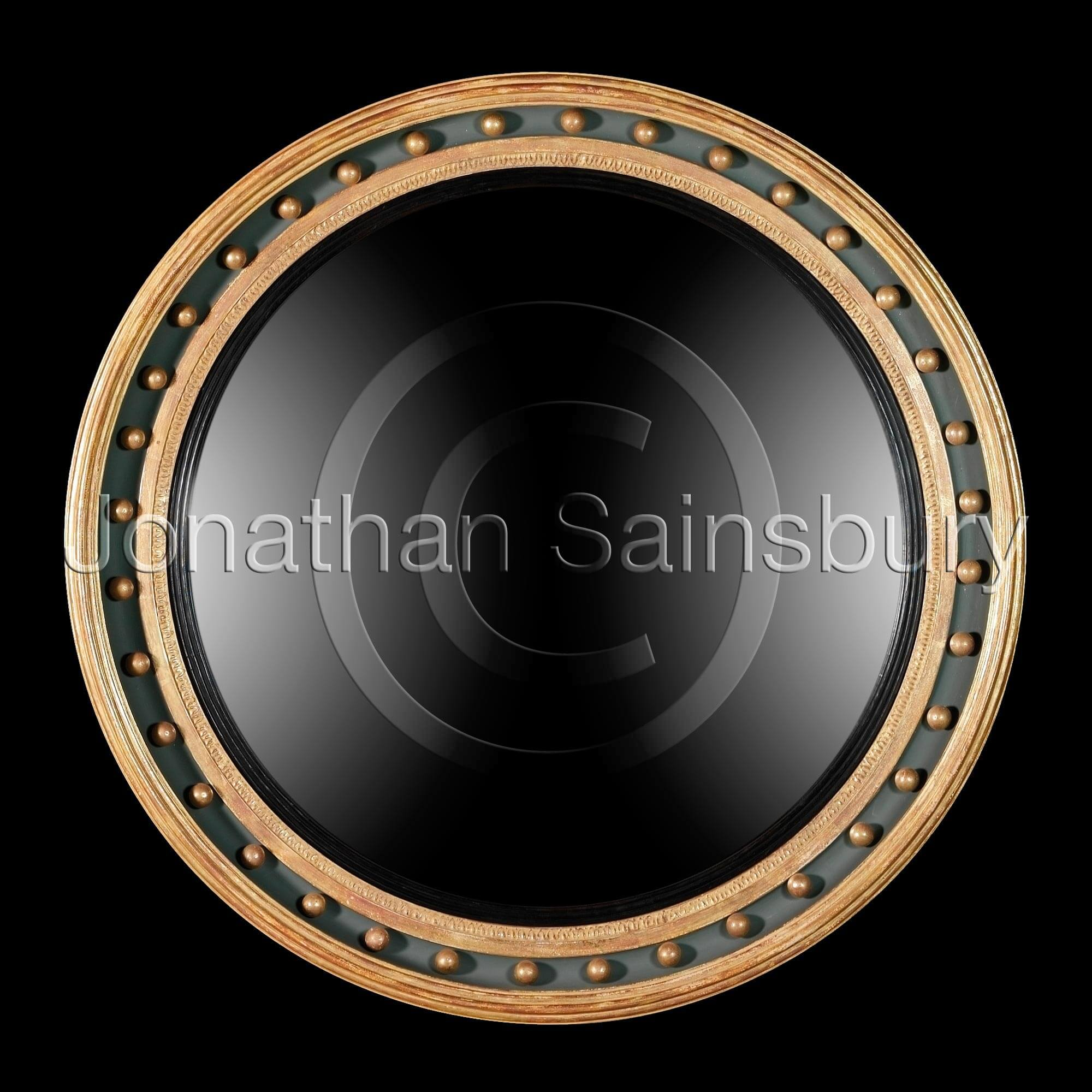 Regency convex mirror jonathan sainsbury for Convex mirror
