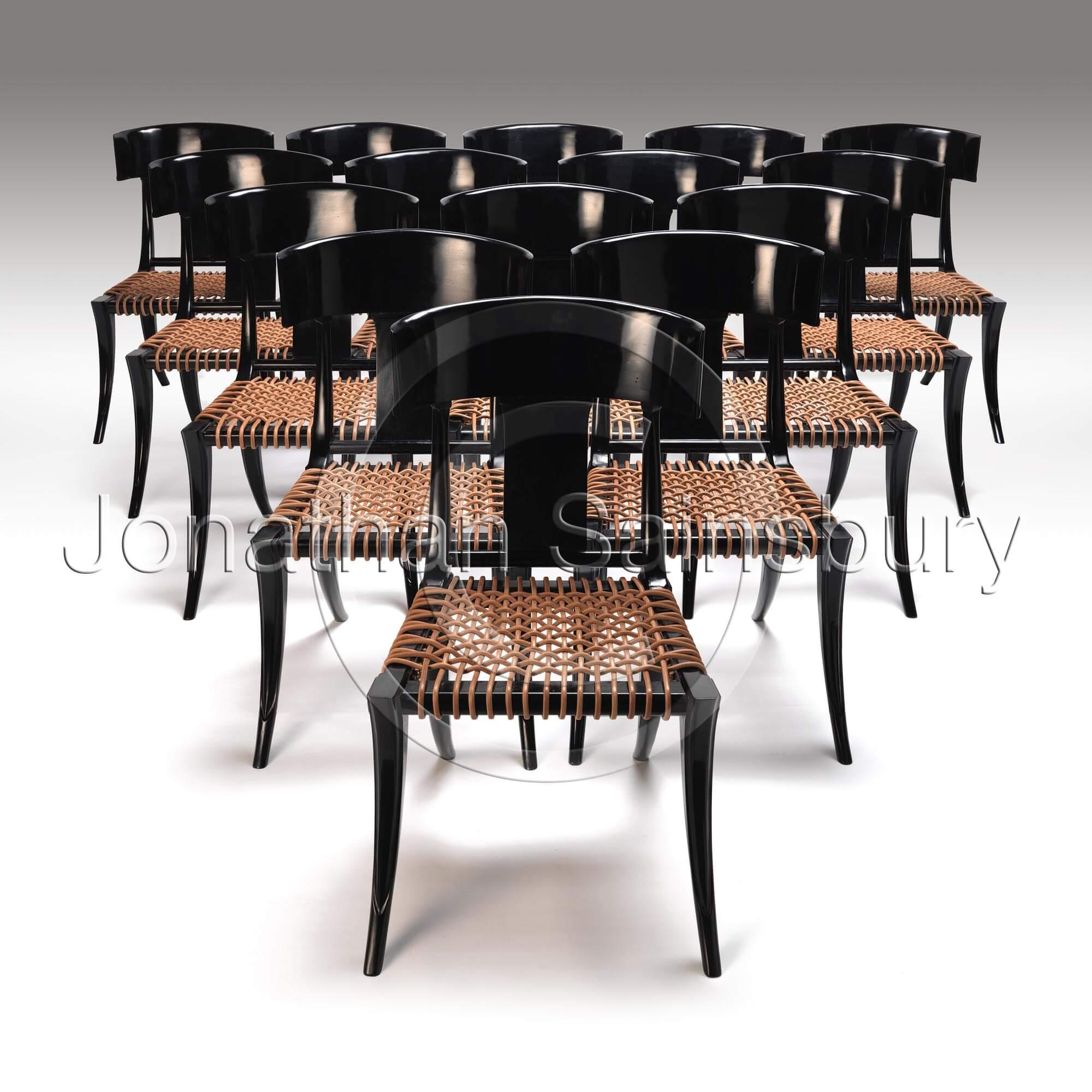 Ebonised Klimos Chairs